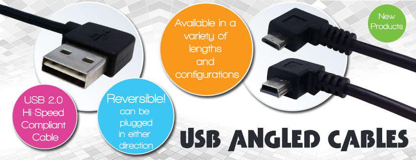 Angled USB Cables