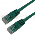 100ft RJ45 Cat6 550MHz Molded Boot Patch Cable - Green