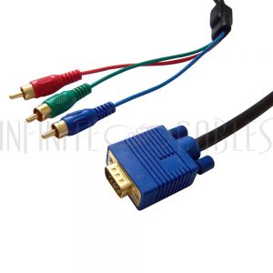 HD15 to Component Cables - Molded