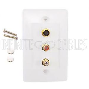 S-Video, RCA Video & Audio Wall Plate Kits