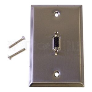 VGA Stainless Steel Wall Plate Kits