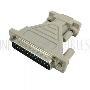 DB9 Male to DB25 Male Serial Adapter