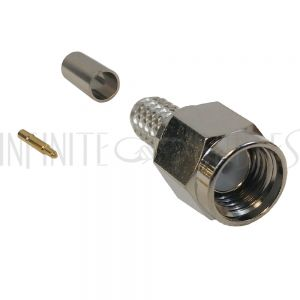 SMA Male Crimp Connector for RG58 (LMR-195) 50 Ohm