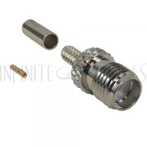 SMA Female Crimp Connector for RG174 (LMR-100) 50 Ohm
