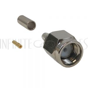 SMA Reverse Polarity Male Crimp Connector for RG174 (LMR-100) 50 Ohm