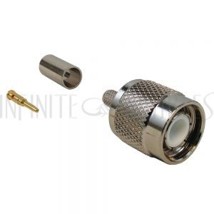 TNC Male Crimp Connector for RG58 (LMR-195) 50 Ohm