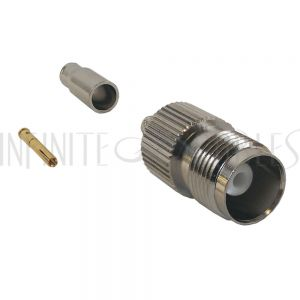 TNC Female Crimp Connector for RG174 (LMR-100) 50 Ohm
