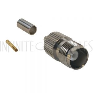 TNC Female Crimp Connector for RG58 (LMR-195) 50 Ohm