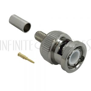 BNC Male Crimp Connector for RG58 (LMR-195) 50 Ohm