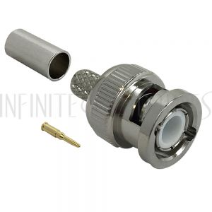 BNC Male Crimp Connector for LMR-240 50 Ohm