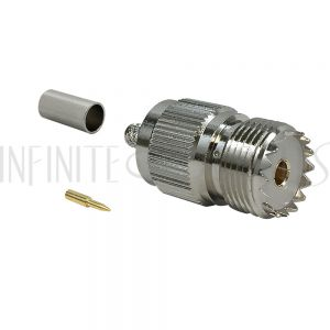 UHF Female Crimp Connector for RG58 (LMR-195) 50 Ohm