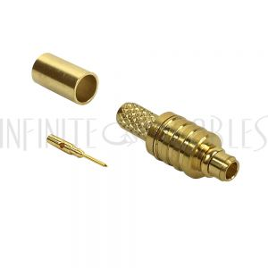 MMCX Male Crimp Connector for RG174 (LMR-100) 50 Ohm