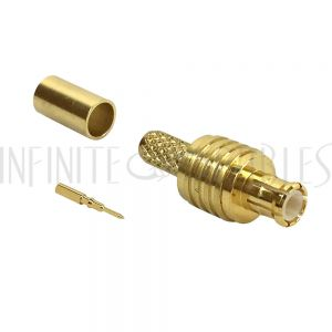 MCX Male Crimp Connector for RG174 (LMR-100) 50 Ohm
