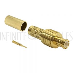 MCX Male Crimp Connector for RG58 (LMR-195) 50 Ohm