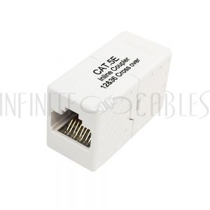 RJ45 Inline coupler, Cat5e Cross-Over