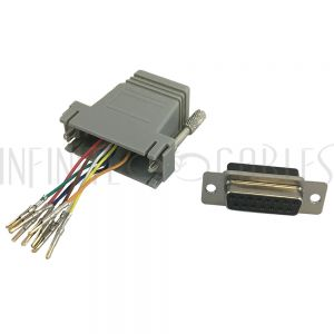 RJ45 Female to DB15 Female Modular Adapter