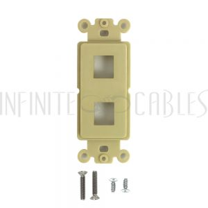 Decora Strap 2-Port Keystone - Ivory