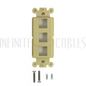 Decora Strap 3-Port Keystone - Ivory