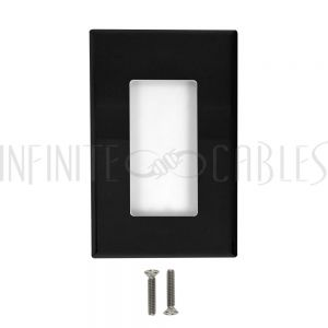 Decora Screw-Less Wall Plate Single Gang - Black