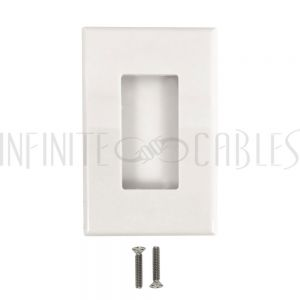 Decora Screw-Less Single Gang Wall Plate - White