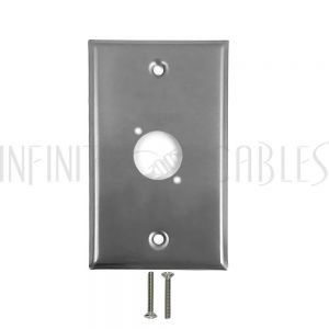 1-Port XLR Stainless Steel Wall Plate