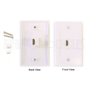 1-Port HDMI Wall Plate Kit - White