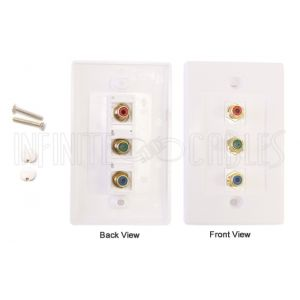 Component Wall Plate Kit - White