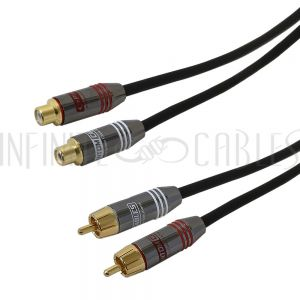 Dual RCA Male to Female Cables