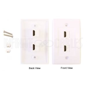 2-Port HDMI Wall Plate Kit - White