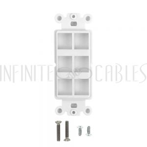 Decora Strap 6-Port Keystone - White