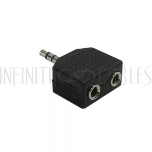 3.5mm Stereo Male to 2 x 3.5mm Stereo Female Adapter