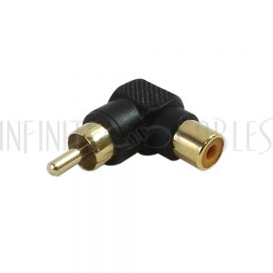 RCA Female to RCA Male 90 Degree Adapter