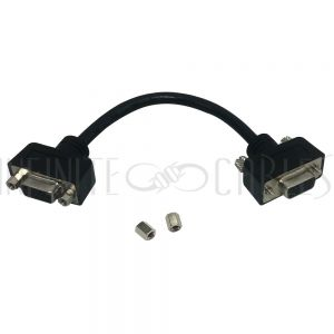 6 inch SVGA Female to Female Adapter with Screws and Hex Nuts