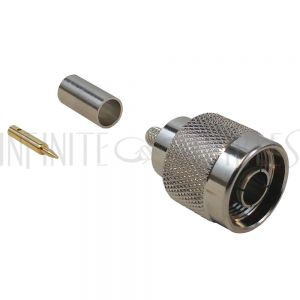 N-Type Male Crimp Connector for RG58 (LMR-195) 50 Ohm
