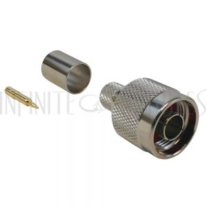 N-Type Male Crimp Connector for RG8 (LMR-400) 50 Ohm