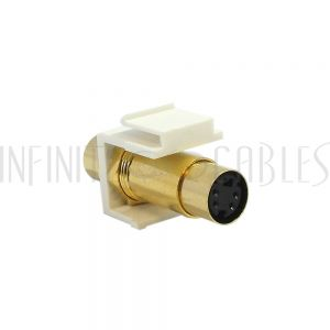 S-Video Female/Female Keystone Wall Plate Insert, Gold Plated
