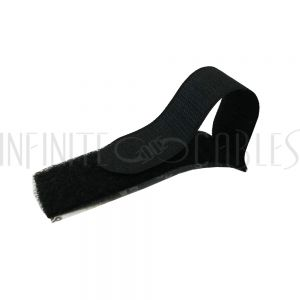3 inch Rip-Tie EconoCatch Adhesive Back - Black - Pack of 20
