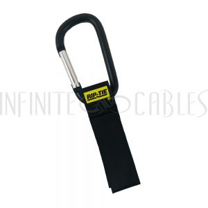 6 inch by 1 inch Rip-Tie Cable Carrier - Black - Pack of 2