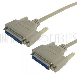 DB25 Female to Female Null-Modem Serial Cables
