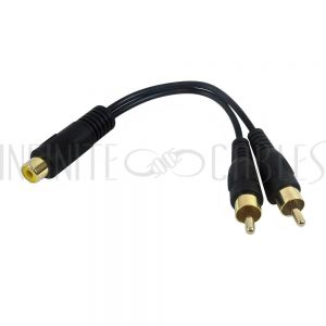 RCA to 2x RCA Splitter Cables