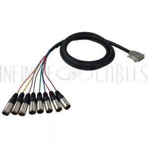 8-Channel DB25 to XLR Male Snake Cables
