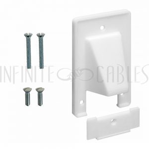 Cable Pass-through Wall Plate, Removable Bottom, Single Gang - White