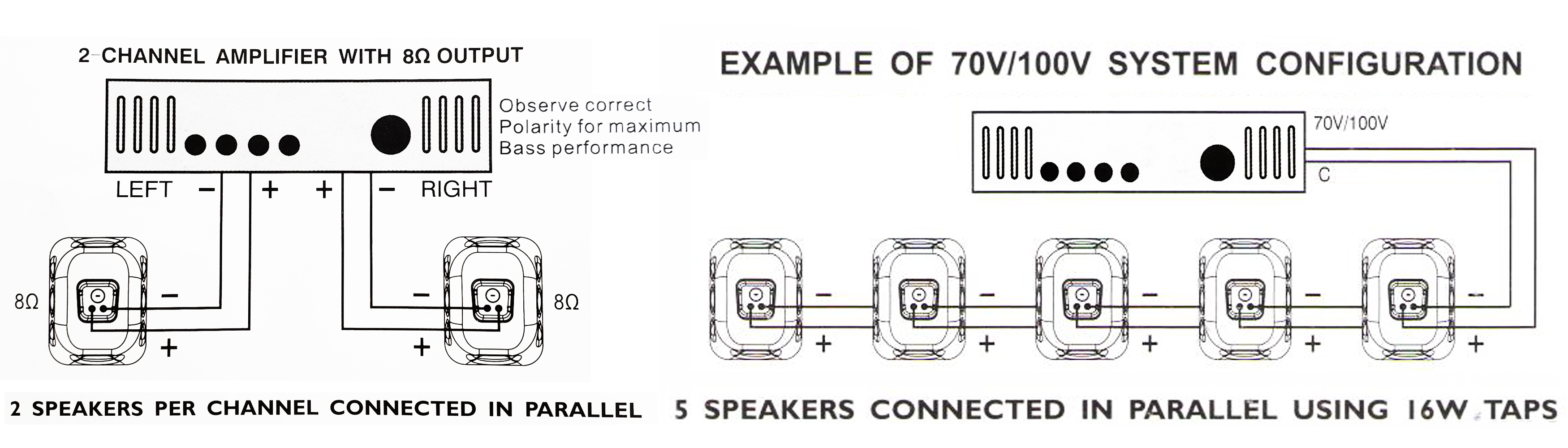 What are some of the major differences between 70V/100V and 8 ohm speaker  systems?