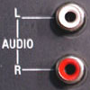 RCA Dual Channel Audio receptacle (Left & Right)