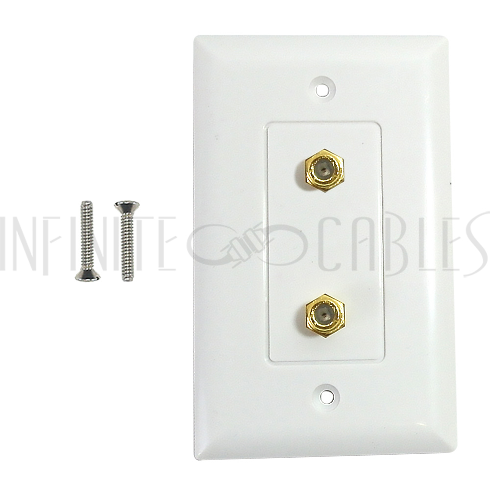 2x Single Gang White Decora Wall Plate 1 Gang White