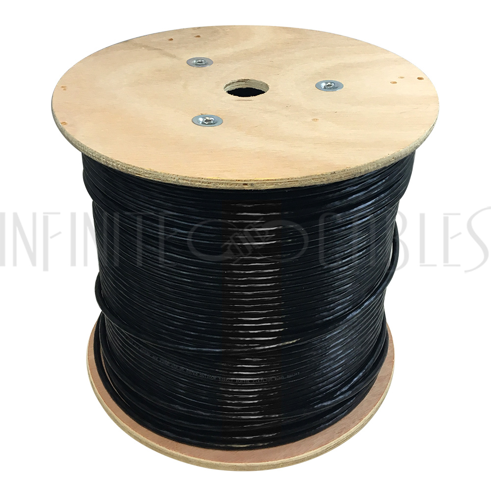1000ft 4 Pair Cat6a 10gbps Utp Solid Uv Direct Burial