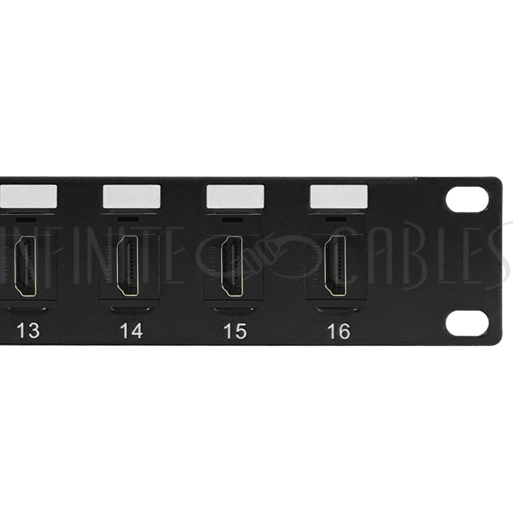 16 Port Hdmi Patch Panel 19 Inch Rackmount 1u Infinite
