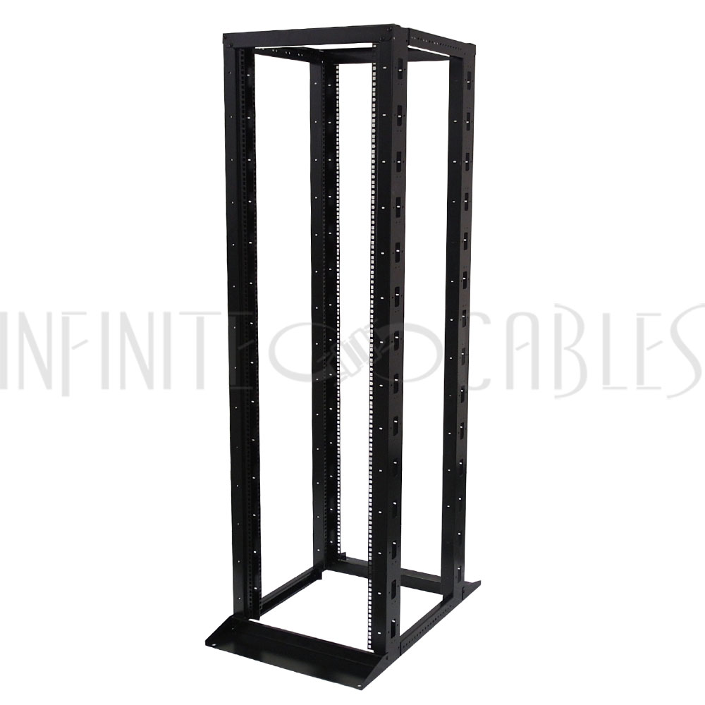 Four Post Relay Rack - 19 inch 42U, Square hole, Depth 23-36 inch