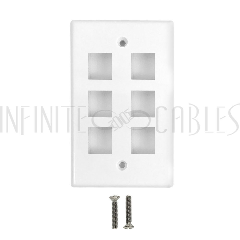 Wall Plate 4 Port Keystone IoT Cabling 10-Pack White