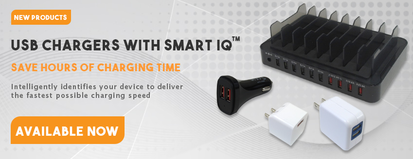 USB Chargers with Smart IQ